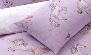 Unicorn reversible single duvet set £3.84 delivered (with code) Groupon