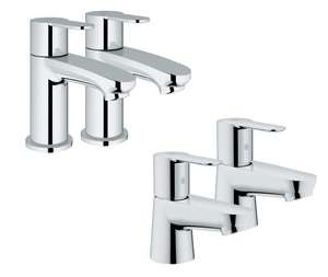 Grohe Wave Cosmo Basin Taps - Chrome or Grohe Get Basin Taps - Chrome for £50 @ Wickes (+5 yrs warranty)