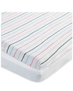Baby bedding - Stripe fitted cot sheets 59p @ Aldi Northwich