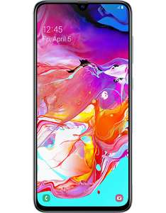 £60 Cashback On Samsung Galaxy A70 128GB Smartphone £329.99 (£269.99) PAYG £229.99 + £10 Top Up + Free Case @ Carphone Warehouse