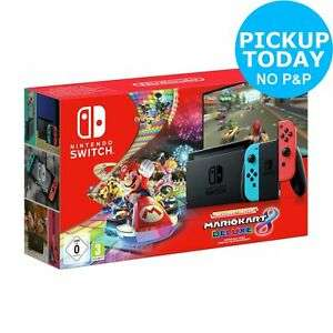 Nintendo Switch (Improved Battery) + Mario Kart 8 Deluxe Console Bundle - £265.99 (with code) @ Argos / eBay (Free Click & Collect)