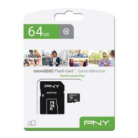 PNY 64GB Performance Plus Micro SD Card £7.99 - Free collection at Argos