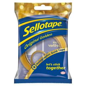 Sellotape 50m With 5m (Gold or Silver) Roll for £1 @ Tesco