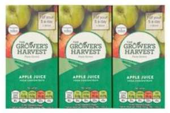 Apple juice/Orange Juice 3 x 200ml for just 40p at Tesco