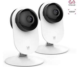 Yi 2pc 1080P Home Camera with Night Version Motion Detection Two Way Audio - £39.98 - Sold by Seeverything UK and Fulfilled by Amazon