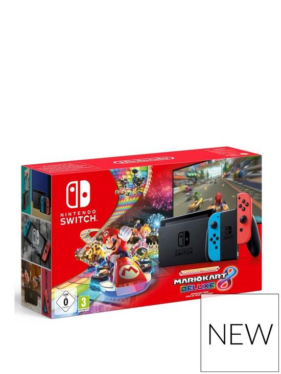 Nintendo Switch Nintendo Switch Neon + Mario Kart 8 Deluxe £279.99 @ Very