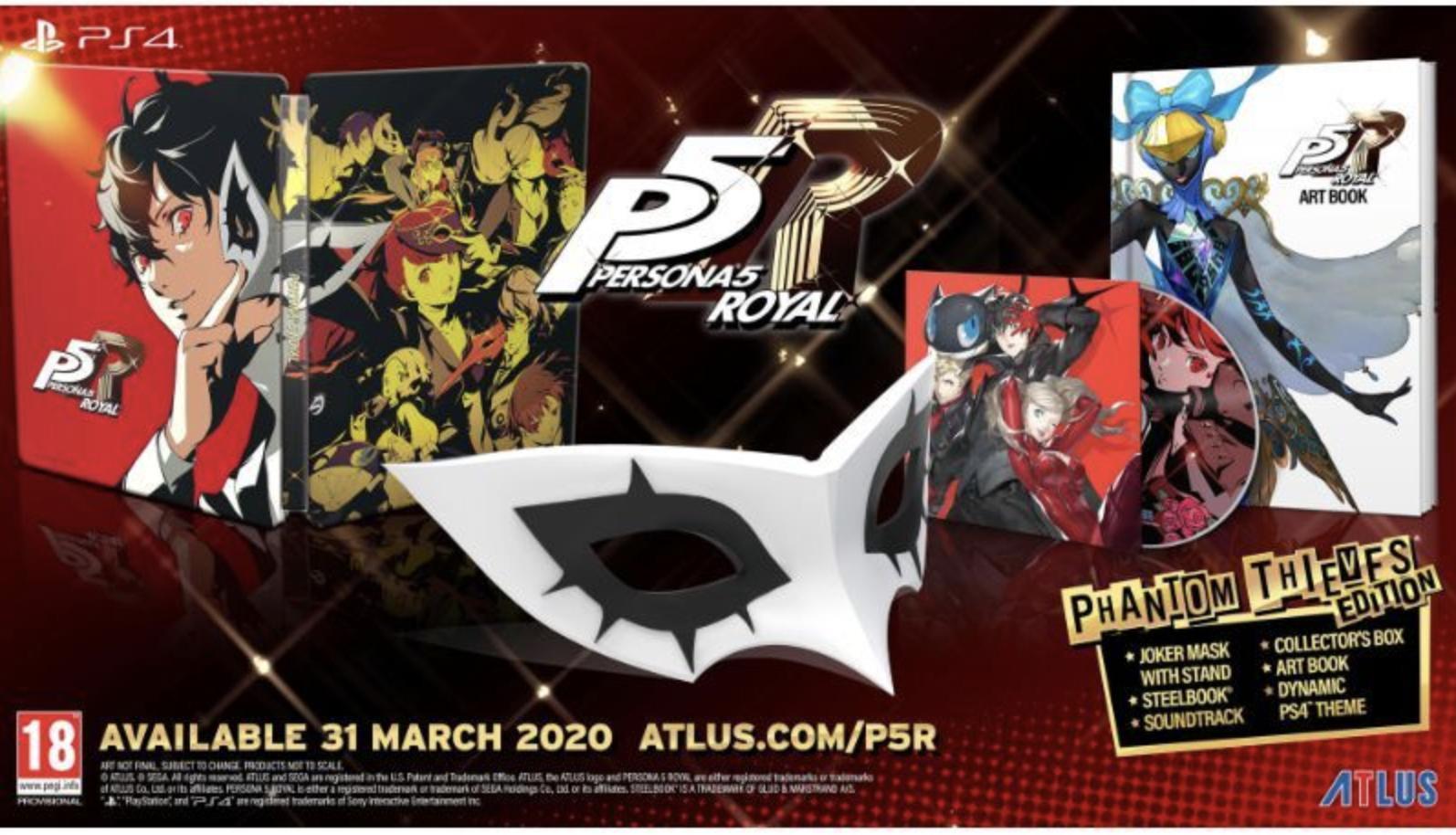 [PS4] Persona 5 Royal Phantom Thieves Edition £79.85 / Launch Edition £44.85 @ ShopTo