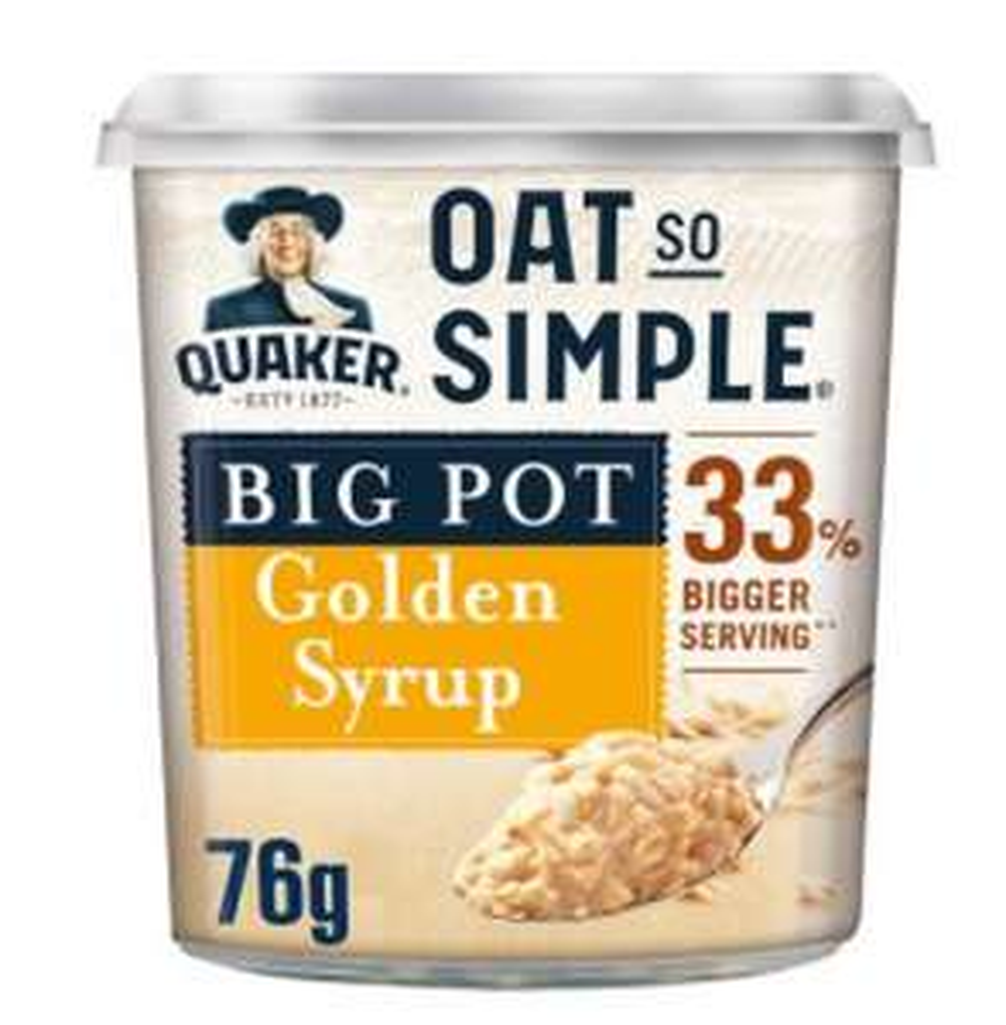Asda offer Quaker Oat so simple Golden syrup porridge Big pot only 50p - Instore and Online