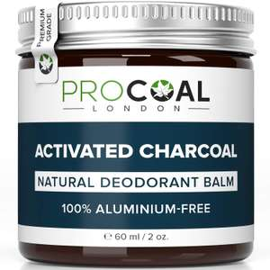 Natural Deodorant with Activated Charcoal by PROCOAL £5.99 (+£4.49 Non Prime) Sold by Procoal and Fulfilled by Amazon