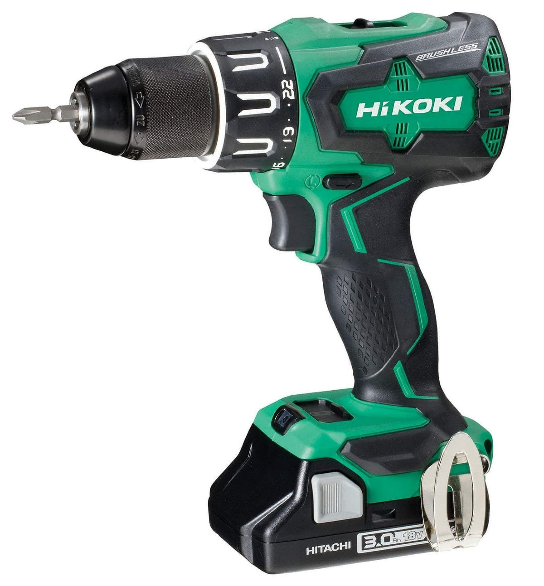 Hitachi Koki 18v Cordless Drill 1 x 3.0Ah DV18DBFL2 Brushless Combi Worklight £79.99 primeretailing eBay