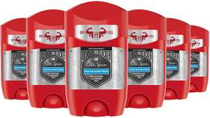 Old Spice Odour Blocker Antiperspirant Deodorant Stick, 50 ml, Pack of 6 £2.99 (Add On Item) / £2.84 S&S @ Amazon