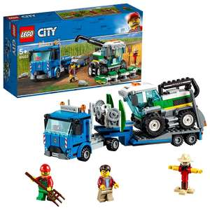 LEGO 60223 City Great Vehicles Harvester Transport with Truck & Trailer, plus Combine Tractor Toy £14.29 (Prime) / £18.78 (nonPrime) Amazon