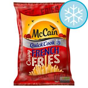 McCain quick Cook 5min FRENCH FRIES 750g in Tesco online and in store only £1.37