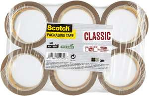 Scotch ideal tape for boxes and parcels Packing Tape, Brown Tape, 6 Rolls - £5.84 Prime / +£4.49 non Prime @ Amazon
