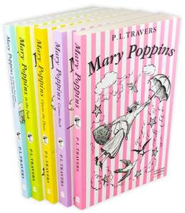 Mary Poppins The Complete Collection 5 Books Set £6.99 Delivered @ Books2door
