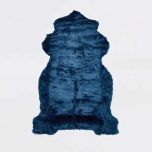 Lovely blue faux fur rug - £15 + £1 Click and Collect / £3.99 delivery @ River Island