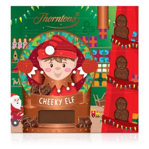 Premium Elf Advent Calendar Reduced to £5 or 3 for £10 + use 10% code and its £12.95 Delivered @ Thorntons