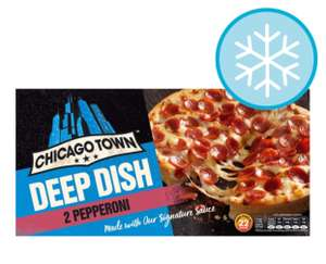 Chicago Town Deep Dish Pepperoni pizza 320G all varieties £1 in Tesco