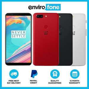 OnePlus 5T 64GB Android SIM Free Unlocked Refurbished Smartphone for £147.99 using code at envirophone eBay