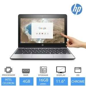 """HP Chromebook 11 G5 11.6"""" Touchscreen Laptop Intel Celeron 4GB RAM 16GB Storage for £151.99 delivered (using code) @ eBay / Laptop Outlet"""