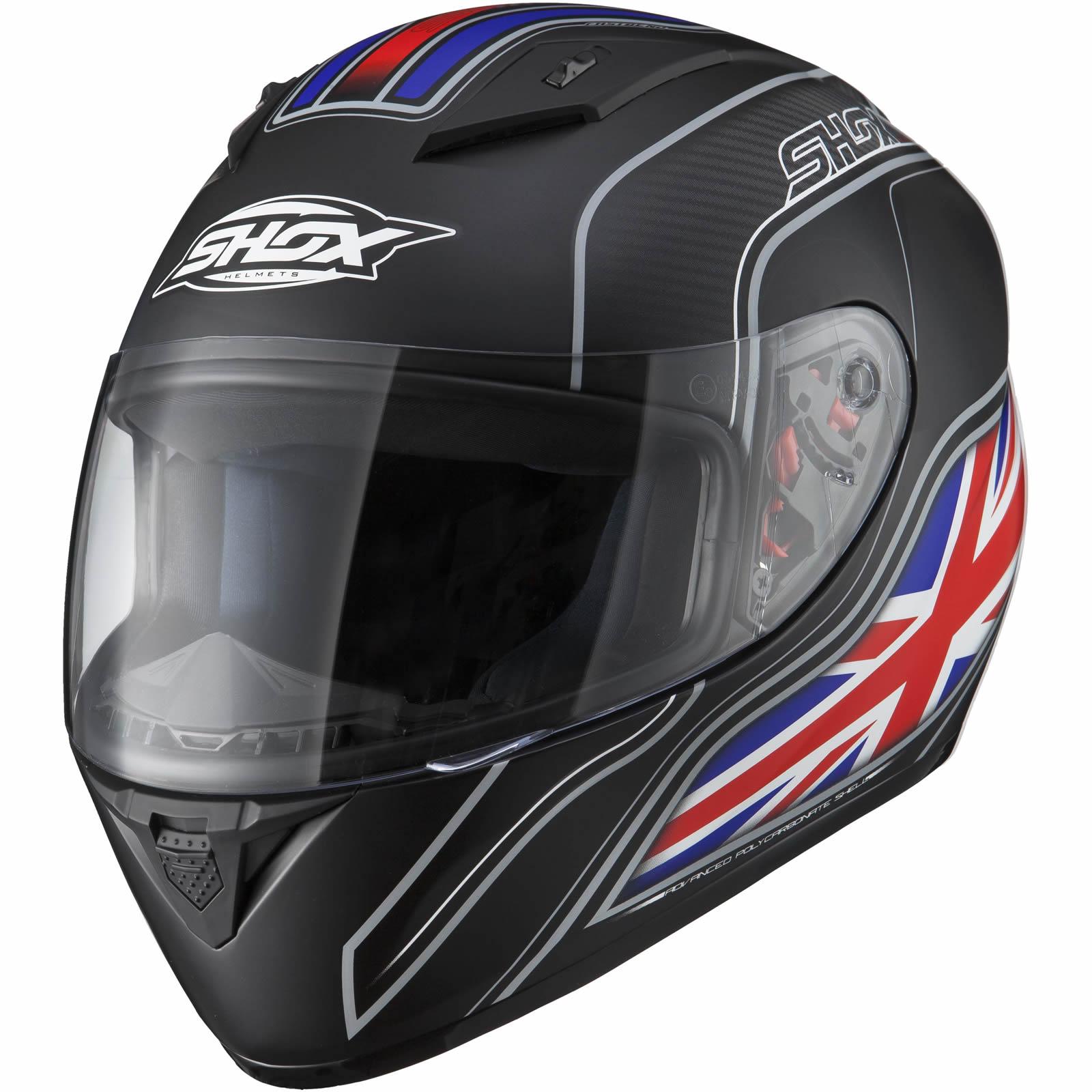 Shox Axxis Identity Motorcycle Matt Black Helmet Motorbike Full Face £31.99 ebay / ghostbikes_uk
