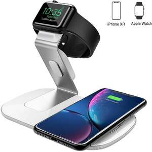 Holife 2-in-1 Qi Wireless Charger for Apple Watch and smartphone for £12.99 Prime/£18.48 non-Prime delivered (using code) @ Amazon / HoTec