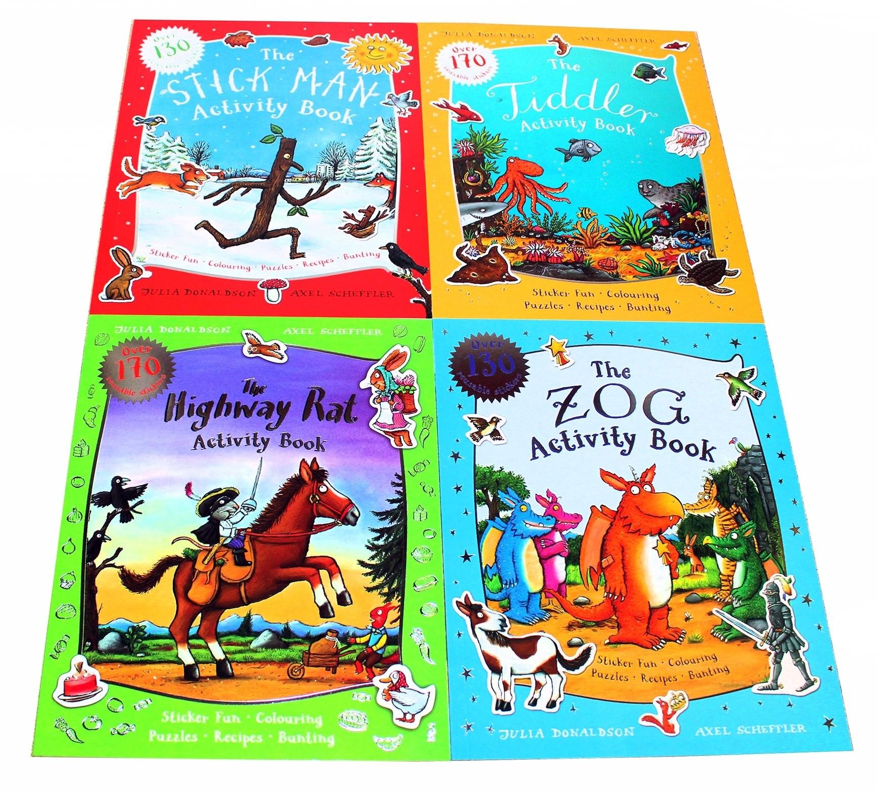 Julia Donaldson and Axel Scheffler 4 Activity Books Paperback £7.99 @ Books2Door (£2.49 P&P)