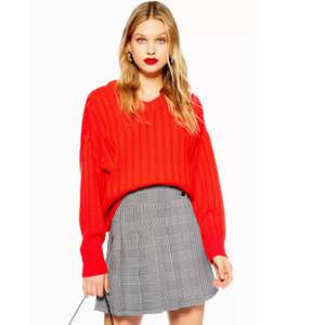 High v neck jumper in red was £35.00 now £5.00 from Topshop with free click and collect