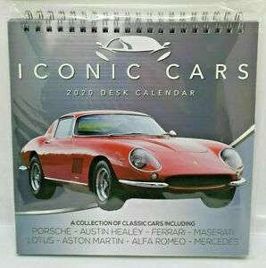 Iconic Cars 2020 Desk Calender 79p @ Home Bargains