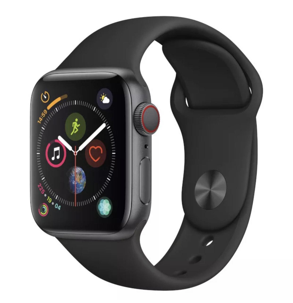 Apple Watch Series 4 44mm Space Grey Aluminium £251 - Black Sport Band (GPS) @ Music Magpie - VG refurb