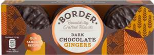 Border Dark Chocolate Gingers - £1 at Tesco, less 50p voucher in Tesco mag via Mysupermarket