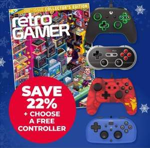 Subscribe to Retro Gamer for 6 months and get a free N30 retro / Pikachu switch / wired xbox or wired hori PS controller - £24.99