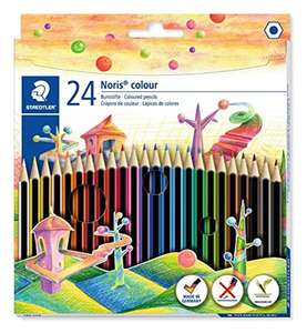 Staedtler 185 C24 Noris Colour Colouring Pencil - Assorted Colours £3.75 (Prime or + £4.49 Non Prime) @ Amazon