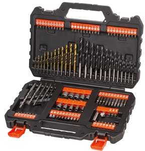 BLACK+DECKER 109 Piece Mixed Drilling & Screwdriving Accessory Set - £20 + Free Click & Collect @ Homebase