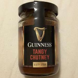 Guinness Tangy Chutney 100g, Onion Marmalade, and Smokey Marinade, £1.29 each in B&M (Keighley)