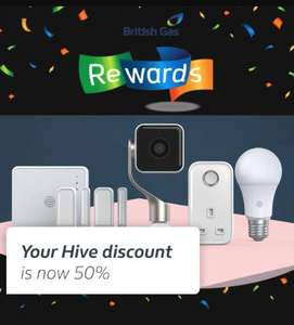 Hive 50% off - British Gas Rewards