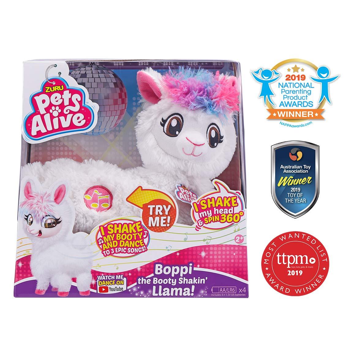 Zuru Pets Alive Boppi The Booty Shakin' Llama, White £14.99 @ Amazon Prime (+£4.49 non-Prime)