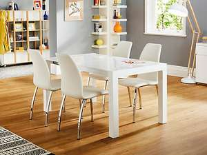 Arlo Extending table with 4 white chairs £412 @ Harveys Furniture