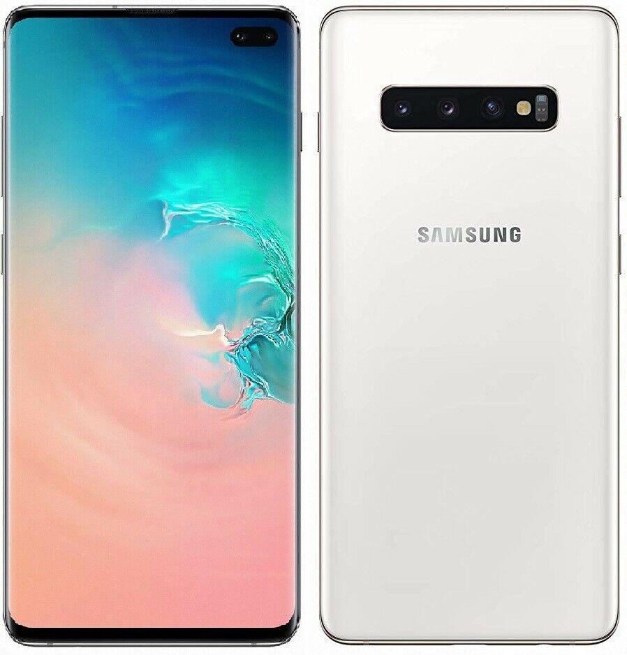 Open Box Grade A - UK Samsung Galaxy S10+ PLUS Smartphone 128GB Unlocked Sim-Free - White £504.87 @ cheapest_electrical / ebay