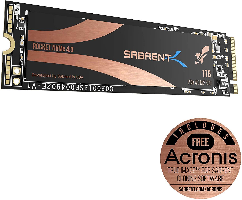 Sabrent 1TB Rocket Nvme PCIe 4.0 M.2 2280 Internal SSD Maximum Performance Solid State Drive SB-ROCKET-NVMe4-1TB £127.49 Amazon