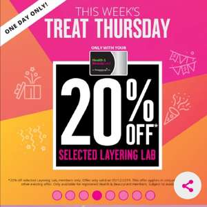 20% off Layering Lab & Bathing Lab for Superdrug Health & Beautycard Members