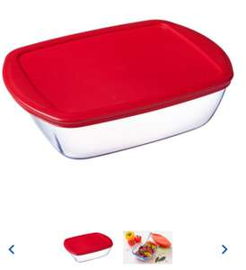 Pyrex Cook And Store 1.1L Red £3 and 2.5 L Red £4 I Tesco online and in store.