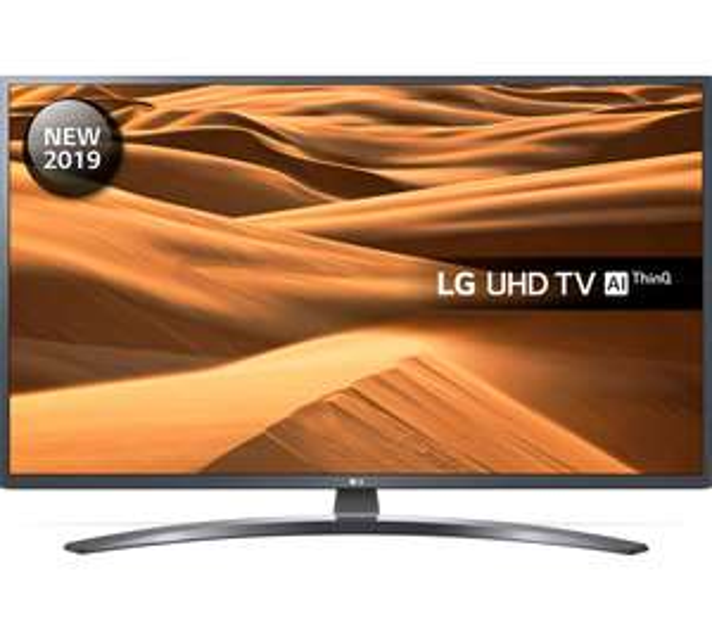 "LG 49UM7400PLB (2019) LED HDR 4K Ultra HD Smart TV, 49"" with Freeview Play/Freesat HD, Ultra HD Dark Iron Grey £314 ebay hughesdirect"