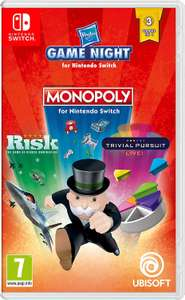 Nintendo Switch Hasbro Game Night (Monopoly - Trivial Pursuit Live! - Risk) £16.85 @ ShopTo