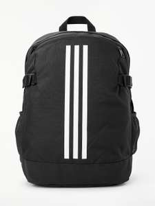 adidas 3-Stripes Power Sports Backpack, Black for £11.99 @ John Lewis & Partners (in-store)