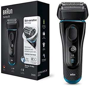 Braun series 5 5140s men's electric foil shaver wet and dry,pop up precision trimmer rechargeable and cordless razor £79.99 @ Amazon