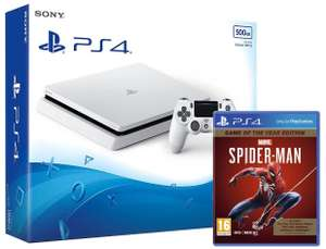 Sony 500GB White PS4 with Marvel's Spiderman GOTY for £174.49 delivered @ Ebuyer Express eBay