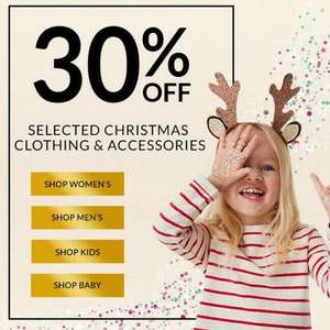 30% off George Christmas clothing and accessories, men's, women's and children.