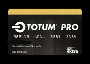 TOTUM Pro Student Card - 3 Years for £31.47 including postage (No Verification Required)