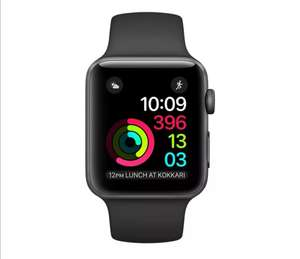 Apple Watch Series 2 42mm Space Grey Aluminium Case Black Sport Band In Very Good Condition £103.99 @ Ultimo Electronics Ebay